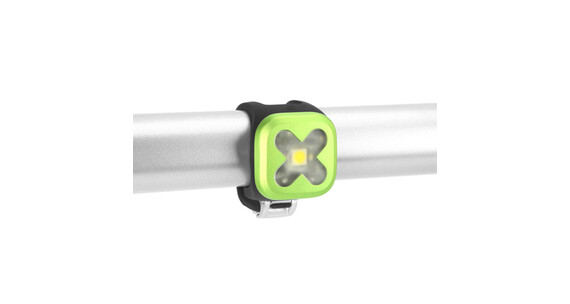Knog Blinder fietsverlichting 1 witte led, cross groen